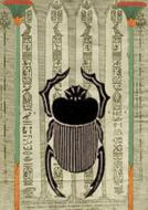 egyptian design beetle drawing