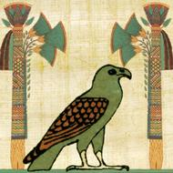 egyptian paper papyrus bird drawing