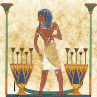 ancient egyptian art, man with stick