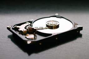 photo of hard disk storage