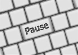 pause button on a computer keyboard
