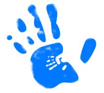 handprint in finger drawing