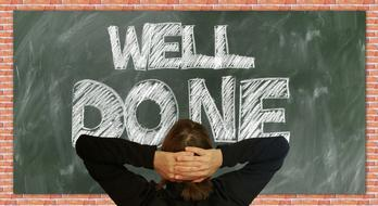 Board well Done text