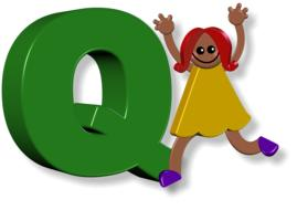 girl and Q letter