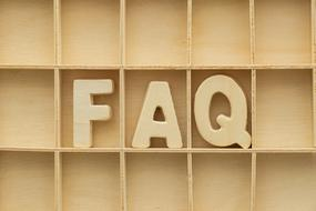 faq wood text