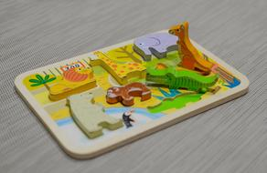 photo of a wooden children's puzzle