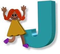 girl and J letter