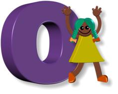 girl and letter O
