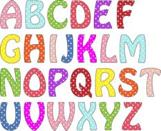 alphabet letters colors drawing