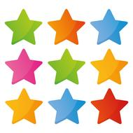 cute colorful stars