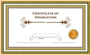 certificate graduation border drawing