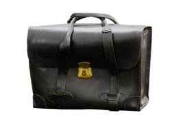 leather retro office briefcase
