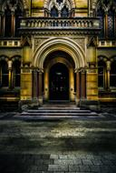 entrance to historical building of University Of Adelaide, Australia