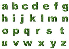 green low case alphabet