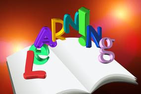 education books letters drawing