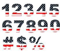 numbers numeric stars stripes drawing