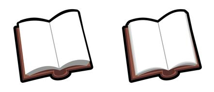 drawn two open books