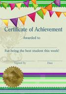 certificate template student drawing