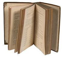 Book Antique Library page open