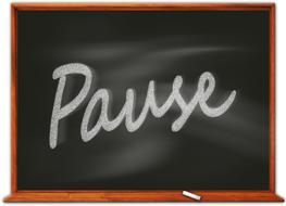 board school pause text