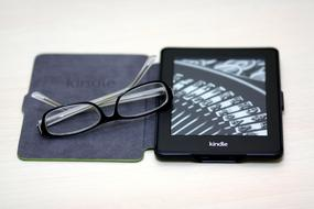 Kindle Book and glasses