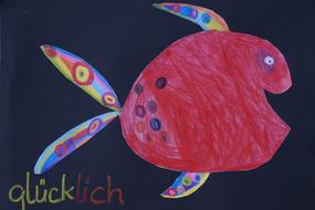 Fish Colorful drawing