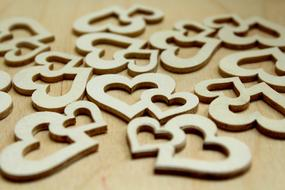 Hearts Wooden