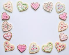heart shaped romantic cookies