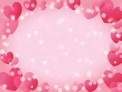 valentine background hearts bokeh