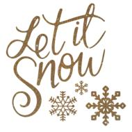 let it snow, golden christmas drawing
