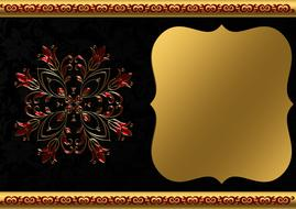 background image gold frame drawing