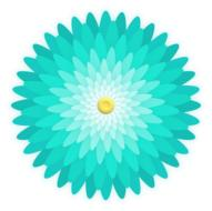 graphic image of a blue daisy