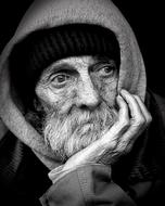 Homeless Man old face