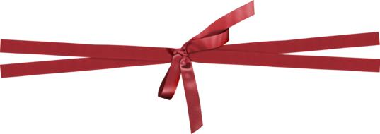 photo of decorative red ribbon on a white background