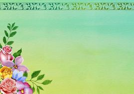 flowers border background drawing