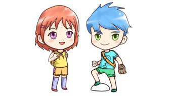 drawn anime boy and girl