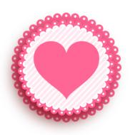 pink heart in pink circle