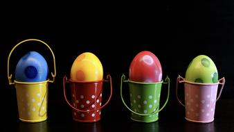 Easter Egg Colorful buckets