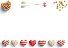 hearts and sweets blank