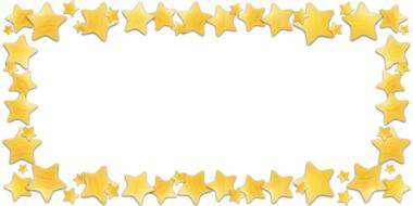 shimming golden stars, frame