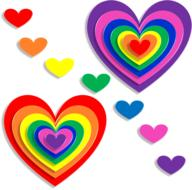 hearts love 3d colors