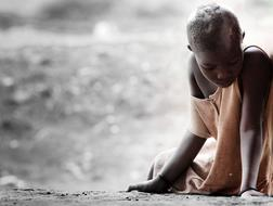 Sad man of Africa