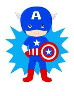 animated Captain American kid