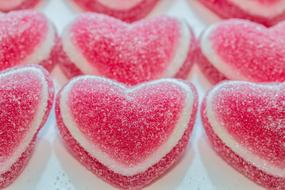Heart Jelly Sugar pink