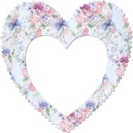 frame border pink floral heart drawing