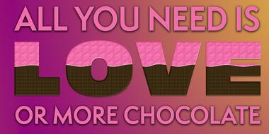 love chocolate quote drawing