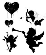 angels cupid love drawing