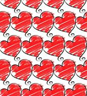 repeating red hearts