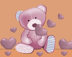 teddy bear tenderness decoration drawing