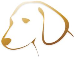dog animal logo drawing
